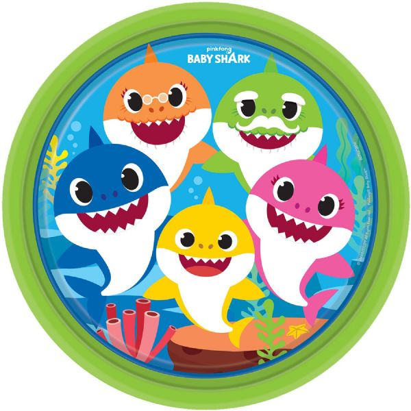Baby Shark Paper Plates (8)
